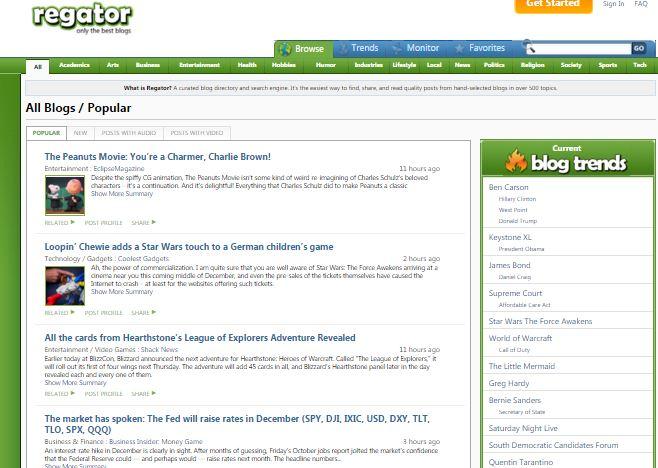 blog regator