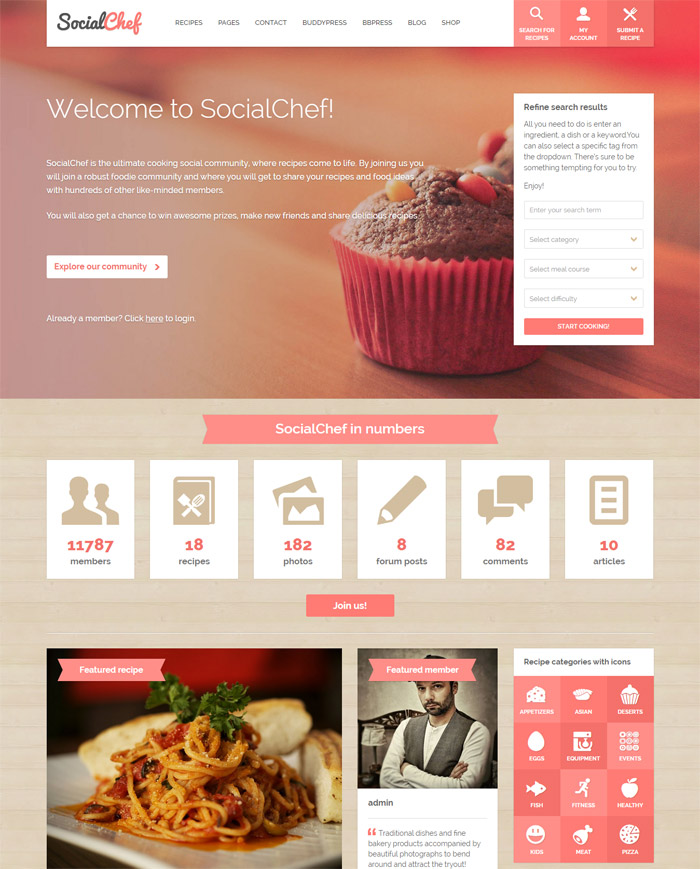 4-excellent-wordpress-social-networking-themes-2015-socialchef