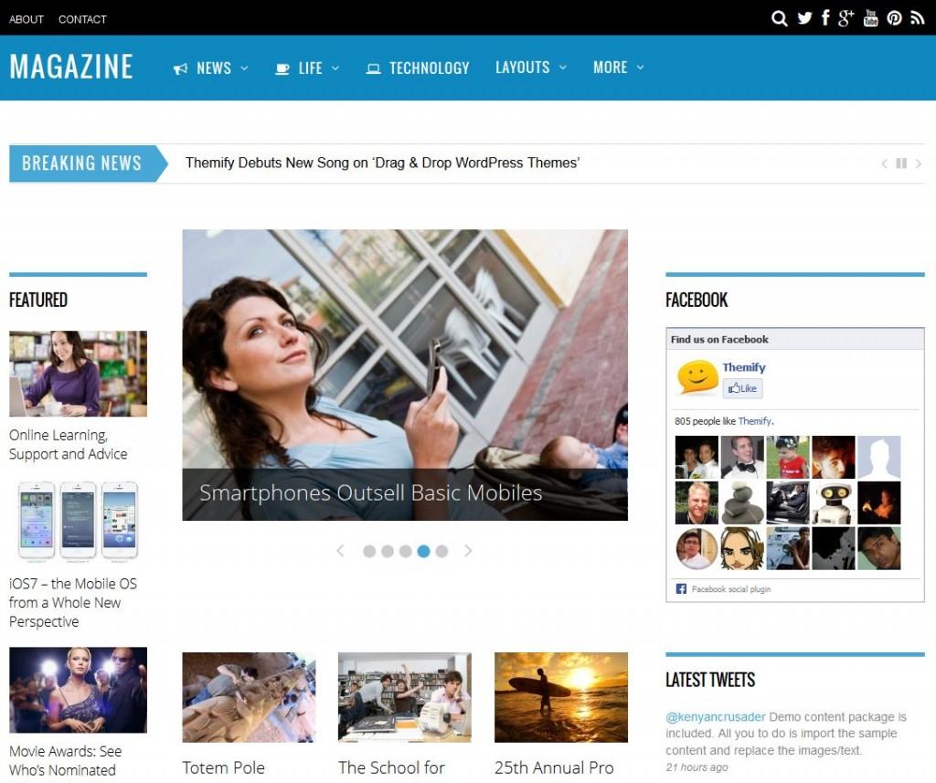 5 top SEO optimized WordPress themes magazine