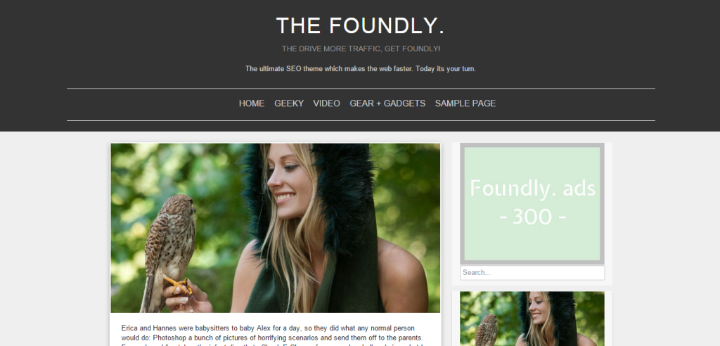 foundly wordpress theme