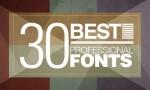 top-free-30-professional-fonts