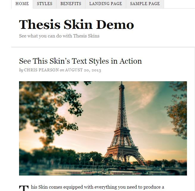 Google webmaster tools thesis theme