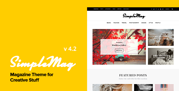 simplemag Minimal theme