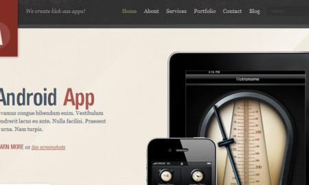 wordpress app theme